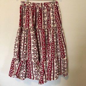 💯 cotton A line midi skirt